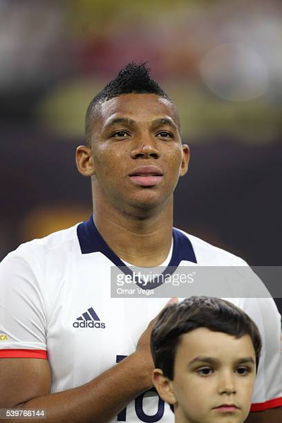 Frank Fabra of Colombia looks on before a group A match between Colombia and Costa Rica at NRG Stadium as part of Copa America Centenario US 2016 on...