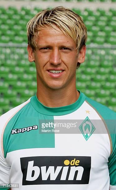 Frank Fahrenhorst poses during the Bundesliga 1st Team Presentation of SV Werder Bremen at the Weser Stadium on July 29 2006 in Bremen Germany