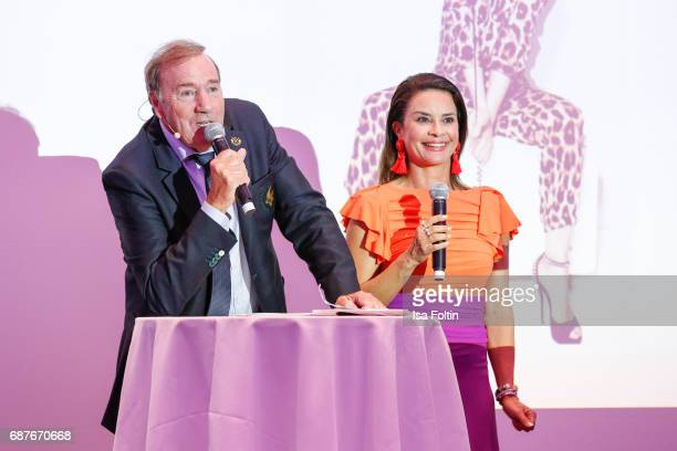 Frank Fleschenberg and Model Gitta Saxx during the Kempinski Fashion Dinner on May 23 2017 in Munich Germany