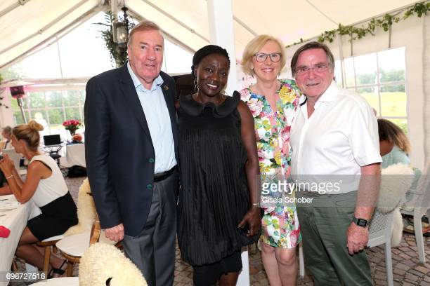 Frank Fleschenberg Dr Auma Obama sister of Barack Obama Elmar Wepper and his wife Anita Wepper during the 2nd I'm Living Charity Golf Cup at Golfclub...