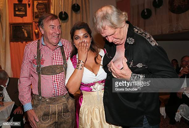 Frank Fleschenberg Indira Weis Gunter Gabriel during a Bavarian Evening ahead of the Kaiser Cup 2015 on July 10 2015 in Bad Griesbach near Passau...