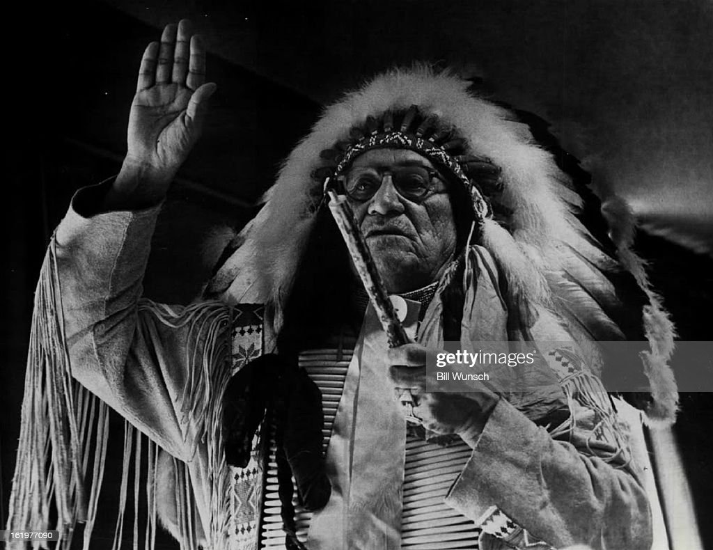 JAN 29 1970 Frank Fools Crow Oglala Sioux medicine man from Pine Ridge SD Reservation He performs the prayer of the smoke ceremony to open National...