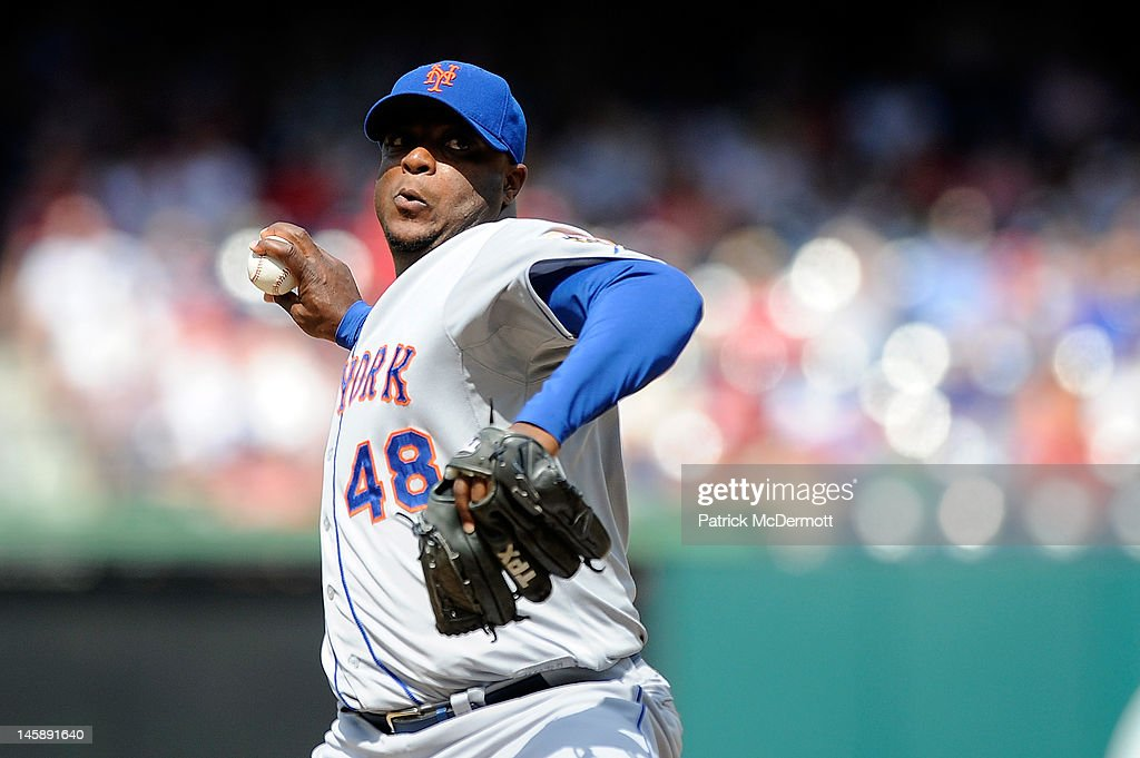 <a gi-track='captionPersonalityLinkClicked' href=/galleries/search?phrase=Frank+Francisco&family=editorial&specificpeople=798081 ng-click='$event.stopPropagation()'>Frank Francisco</a> #48 of the New York Mets throws a pitch against the Washington Nationals at Nationals Park on June 7, 2012 in Washington, DC.