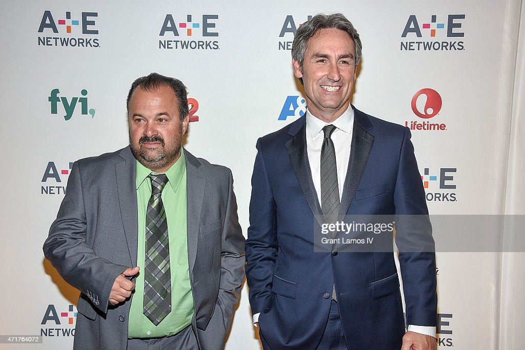 Frank fritz l and mike wolfe attend the 2015 a e networks upfront on