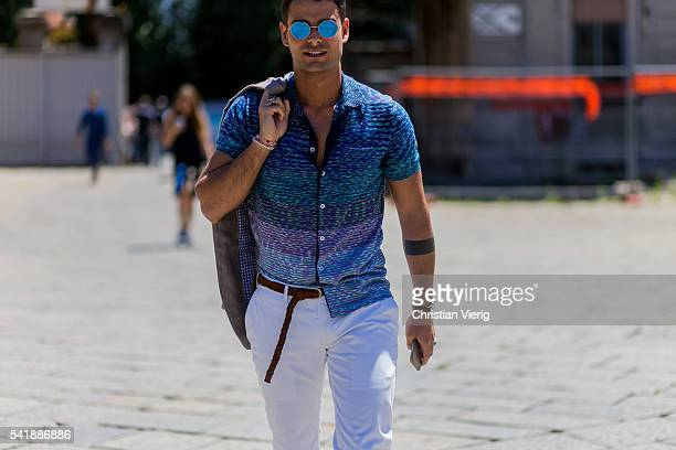 Frank Gallucci outside Gucci during the Milan Men's Fashion Week Spring/Summer 2017 on June 20 2016 in Milan Italy