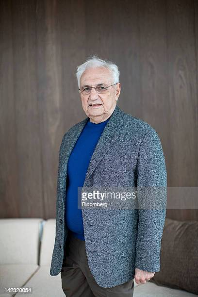 Frank Gehry architect at Gehry Partners LLP stands for a photograph in Hong Kong China on Friday March 30 2012 Swire Properties Ltd has completed...