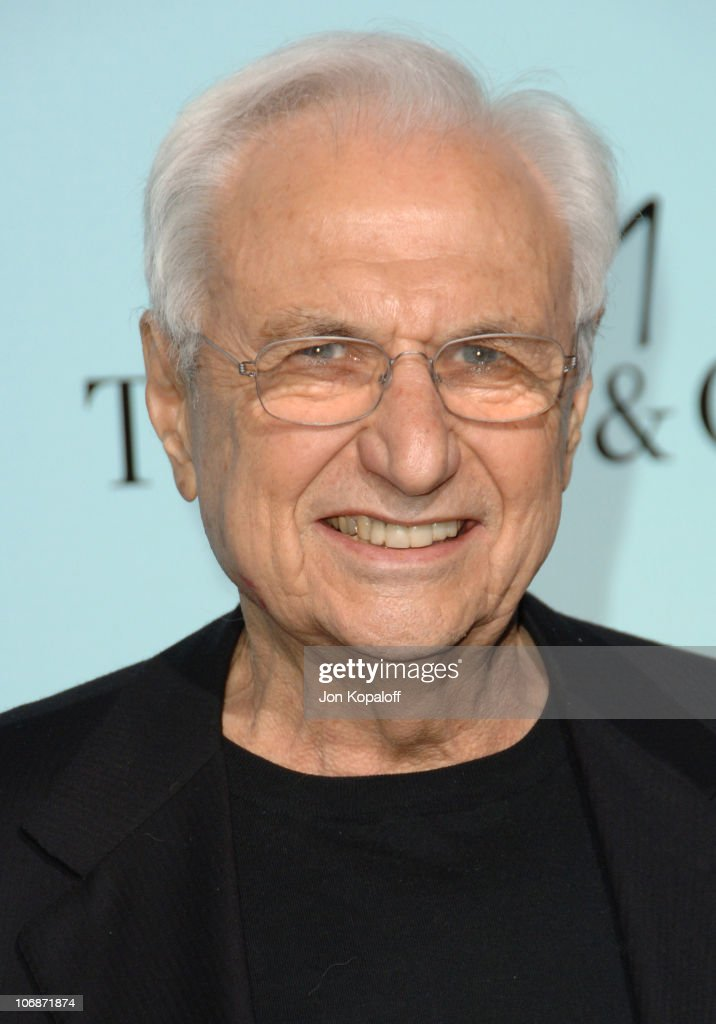 <a gi-track='captionPersonalityLinkClicked' href=/galleries/search?phrase=Frank+Gehry&family=editorial&specificpeople=131842 ng-click='$event.stopPropagation()'>Frank Gehry</a> during Tiffany & Co. Celebrates The Launch Of <a gi-track='captionPersonalityLinkClicked' href=/galleries/search?phrase=Frank+Gehry&family=editorial&specificpeople=131842 ng-click='$event.stopPropagation()'>Frank Gehry</a>'s Premiere Collection On Rodeo Drive - Arrivals at Tiffany & Co. in Beverly Hills, California, United States.