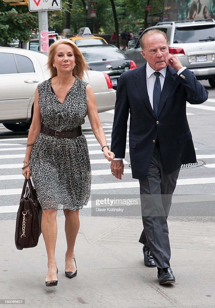 Frank Gifford and Kathie Lee Gifford arrive at the funeral service for Marvin Hamlisch at Temple Emanu-El on August 14, 2012 in New York City. Hamlisch died in Los Angeles on August 6, 2012 at age 68. In his long and distinguished career, the composer and conductor received a Pulitzer Prize as well as the Oscar, Tony, Emmy and GRAMMY