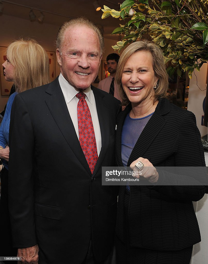 Frank Gifford and Laurie Tisch attend the New York Giants Super Bowl Pep Rally Luncheon at Michael's on February 1, 2012 in New York City.