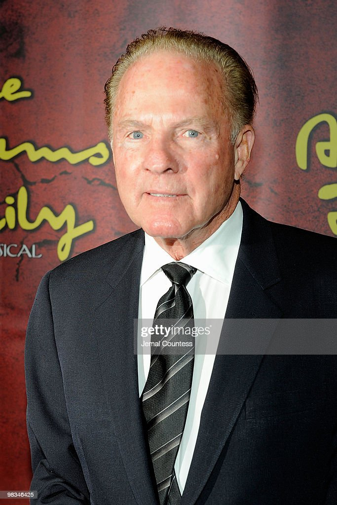 <a gi-track='captionPersonalityLinkClicked' href=/galleries/search?phrase=Frank+Gifford&family=editorial&specificpeople=214258 ng-click='$event.stopPropagation()'>Frank Gifford</a> attends the Broadway opening of 'The Addams Family' at the Lunt-Fontanne Theatre on April 8, 2010 in New York City.