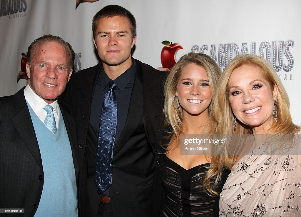Frank Gifford, Cody Gifford, Kathie Lee Gifford and Cody Gifford attends the opening night of 'Scandalous' on Broadway at the Neil Simon Theatre on November 15, 2012 in New York City.