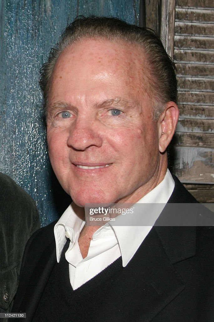 Frank Gifford during Elisabeth Hasselbeck and Tim Hasselbeck Visit Kathie Lee Gifford and Frank Gifford at 'Under the Bridge' at The Zipper Theater in New York City, New York, United States.