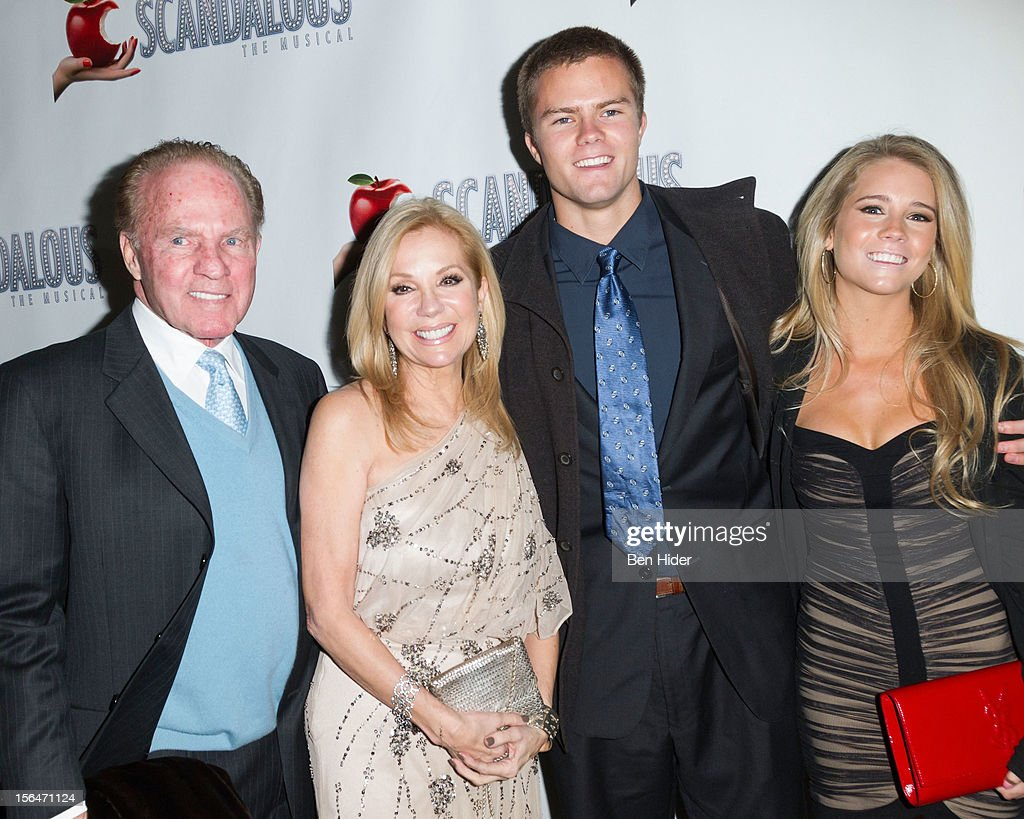 <a gi-track='captionPersonalityLinkClicked' href=/galleries/search?phrase=Frank+Gifford&family=editorial&specificpeople=214258 ng-click='$event.stopPropagation()'>Frank Gifford</a>, <a gi-track='captionPersonalityLinkClicked' href=/galleries/search?phrase=Kathie+Lee+Gifford&family=editorial&specificpeople=203269 ng-click='$event.stopPropagation()'>Kathie Lee Gifford</a>, <a gi-track='captionPersonalityLinkClicked' href=/galleries/search?phrase=Cassidy+Gifford&family=editorial&specificpeople=3973548 ng-click='$event.stopPropagation()'>Cassidy Gifford</a> and Cody Gifford attends the 'Scandalous' Broadway Opening Night at Neil Simon Theatre on November 15, 2012 in New York City.