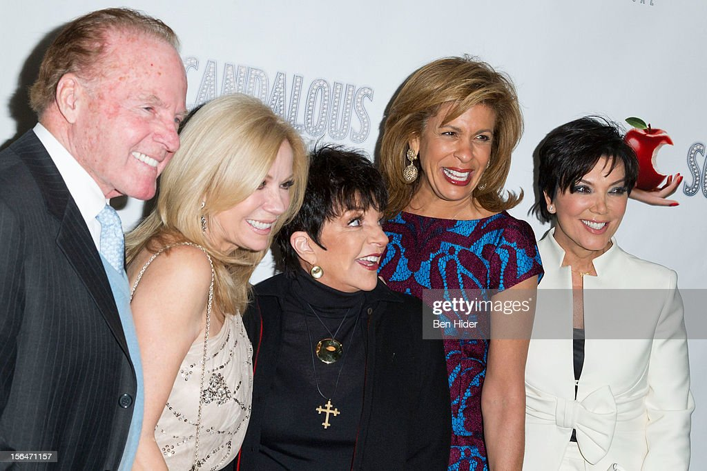 Frank Gifford, Kathie Lee Gifford, Liza Minnelli, Hoda Kotb and Kris Jenner attend the 'Scandalous' Broadway Opening Night at Neil Simon Theatre on November 15, 2012 in New York City.