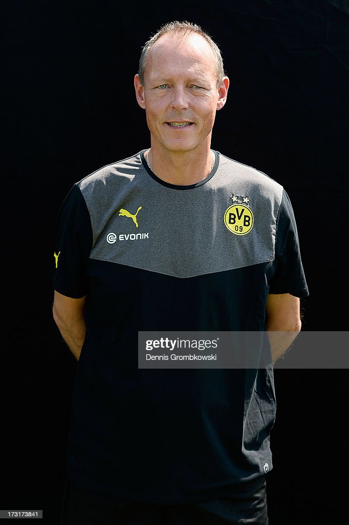 Frank Graefen poses during the Borussia Dortmund Team Presentation at Brackel Training Ground on July 9, 2013 in Dortmund, Germany.