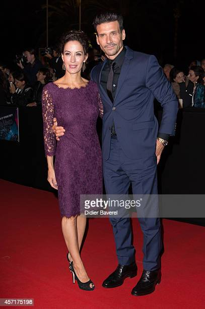 Frank Grillo and Wendy Moniz attend the opening red carpet party MIPCOM 2014 at Hotel Martinez on October 13 2014 in Cannes France