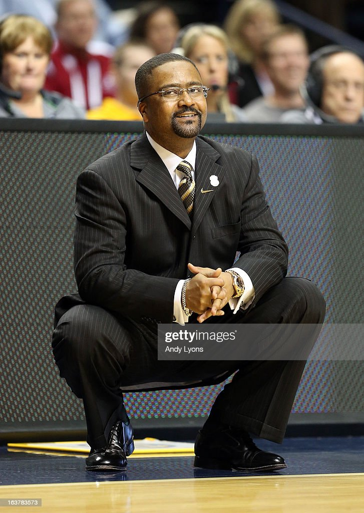 Frank Haith the head coach of the Missouri Tigers gives instructions to his team during the game against the Ole Miss Rebels during the quarterfinals of the SEC Baketball Tournament at Bridgestone Arena on March 15, 2013 in Nashville, Tennessee.
