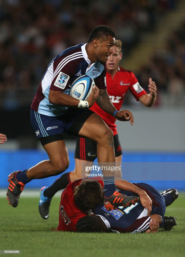 Frank Halai of the Blues in action during the round 3 Super Rugby match between the Blues and the Crusaders at Eden Park on March 1, 2013 in Auckland, New Zealand.