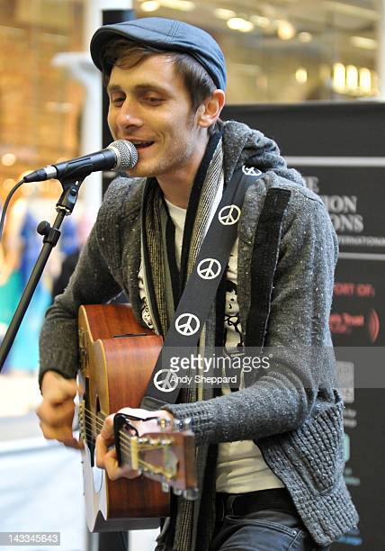Frank Hamilton performs for The Station Sessions Festival 2012 at St Pancras International Station on April 24 2012 in London United Kingdom