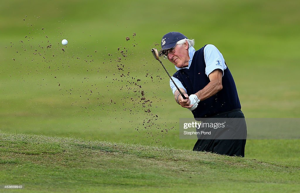Frank Hill in action during day two of the PGA Super 60's Tournament at Thorpeness Hotel and Golf Club on August 15, 2014 in Thorpeness, England.
