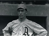 Frank 'Homerun' Baker Third baseman with the Philadelphia Athletics in 1914