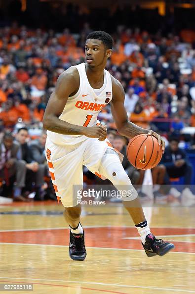 Frank Howard of the Syracuse Orange controls the ball against the North Florida Ospreys during the second half at the Carrier Dome on December 3 2016...