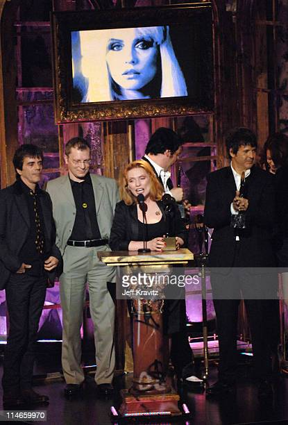 Frank Infante Gary Valentine Debbie Harry Jimmy Destri and Clem Burke of Blondie inductees