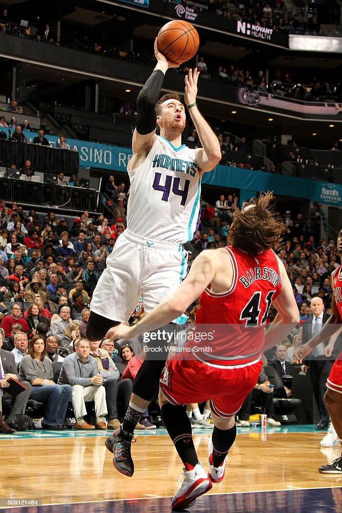 <a gi-track='captionPersonalityLinkClicked' href=/galleries/search?phrase=Frank+Kaminsky&family=editorial&specificpeople=8685398 ng-click='$event.stopPropagation()'>Frank Kaminsky</a> III #44 of the Charlotte Hornets shoots the ball during the game against the Chicago Bulls on February 8, 2016 at Time Warner Cable Arena in Charlotte, North Carolina.