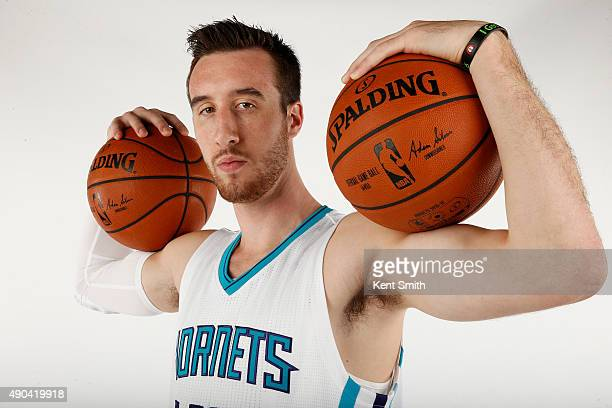 Frank Kaminsky of the Charlotte Hornets poses for media day at the Time Warner Cable Arena on February 4 2015 in Charlotte North Carolina NOTE TO...