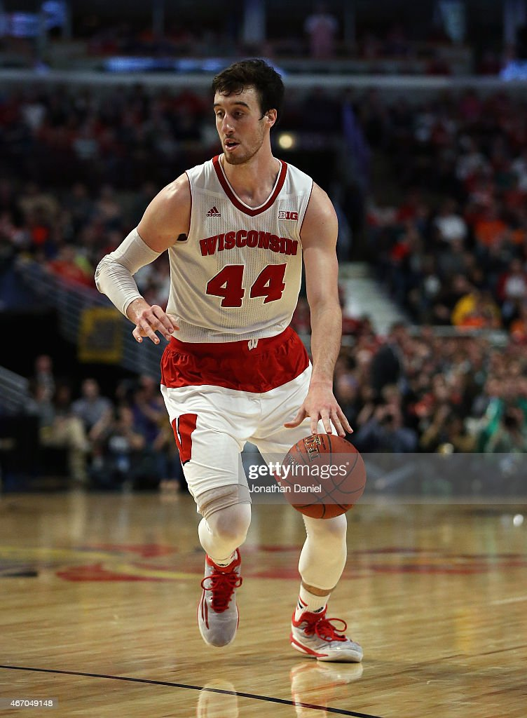 <a gi-track='captionPersonalityLinkClicked' href=/galleries/search?phrase=Frank+Kaminsky&family=editorial&specificpeople=8685398 ng-click='$event.stopPropagation()'>Frank Kaminsky</a> #44 of the Wisconsin Badgers moves against the Michigan State Spartans during the Championship game of the 2015 Big Ten Men's Basketball Tournament at the United Center on March 15, 2015 in Chicago, Illinois. Wisconsin defeated Michigan State 80-69 in overtime.