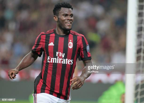 Frank Kessie during the preliminaries of Europa League 2017/2018 match between Milan v Craiova in Milan on august 3 2017