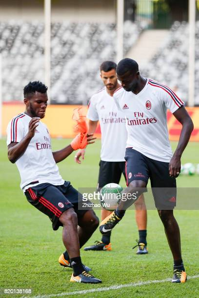 Frank Kessie of AC Milan was training at Universiade Sports Centre Stadium on July 21 2017 in Shenzhen China