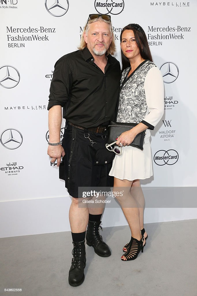 Frank Kessler and Doreen Tuenschel attend the Minx by Eva Lutz show during the Mercedes-Benz Fashion Week Berlin Spring/Summer 2017 at Erika Hess Eisstadion on June 29, 2016 in Berlin, Germany.