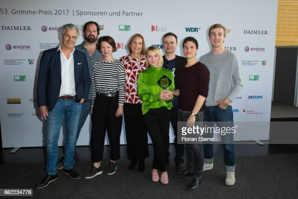 Frank Lamm Gabriela Sperl Anna Maria Muehe Sebastian Urzendowsky and Albrecht Schuch attend the 53rd Grimme Award at Theater Marl on March 31 2017 in...