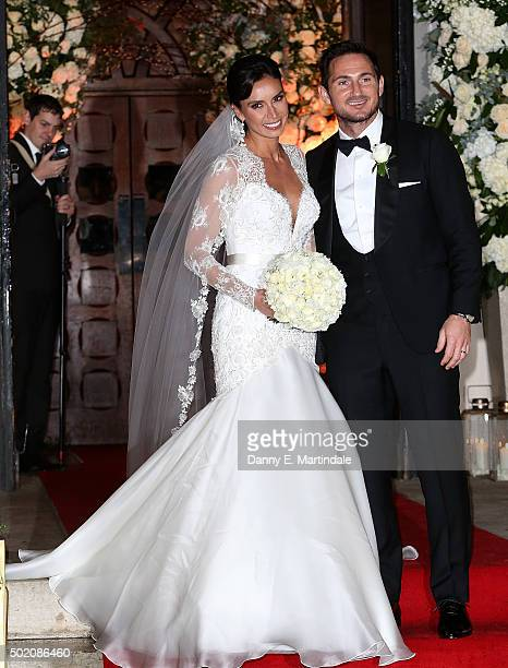 Frank Lampard and Christine Bleakley are seen leaving there wedding on December 20 2015 in London England
