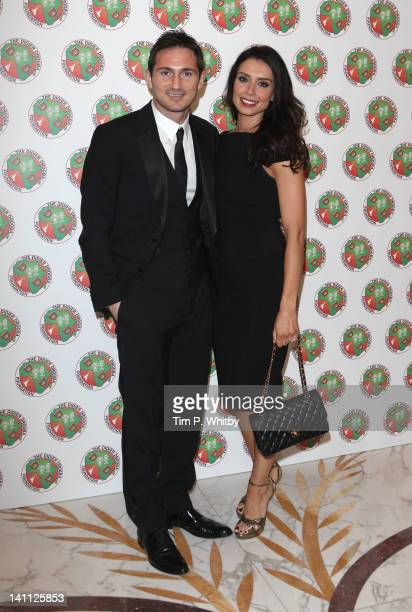Frank Lampard and Christine Bleakley attend the Didier Drogba Foundation Charity Ball at Dorchester Hotel on March 10 2012 in London England