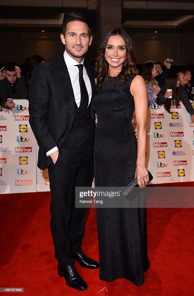 Frank Lampard and Christine Bleakley attend the Pride of Britain awards at The Grosvenor House Hotel on October 6, 2014 in London, England.