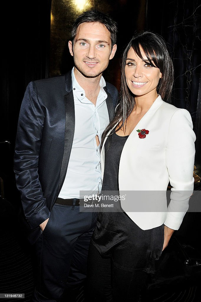 Frank Lampard (L) and Christine Bleakley attend the video launch of Duran Duran 'Girl Panic!' at The Savoy Hotel on November 8, 2011 in London, England.