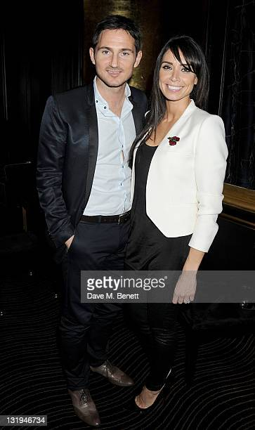 Frank Lampard and Christine Bleakley attend the video launch of Duran Duran 'Girl Panic' at The Savoy Hotel on November 8 2011 in London England