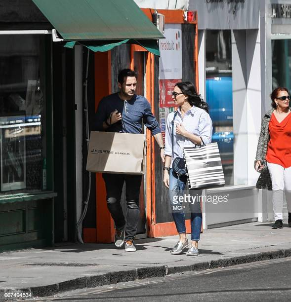 Frank Lampard and Christine Lampard sighting on April 11 2017 in London England