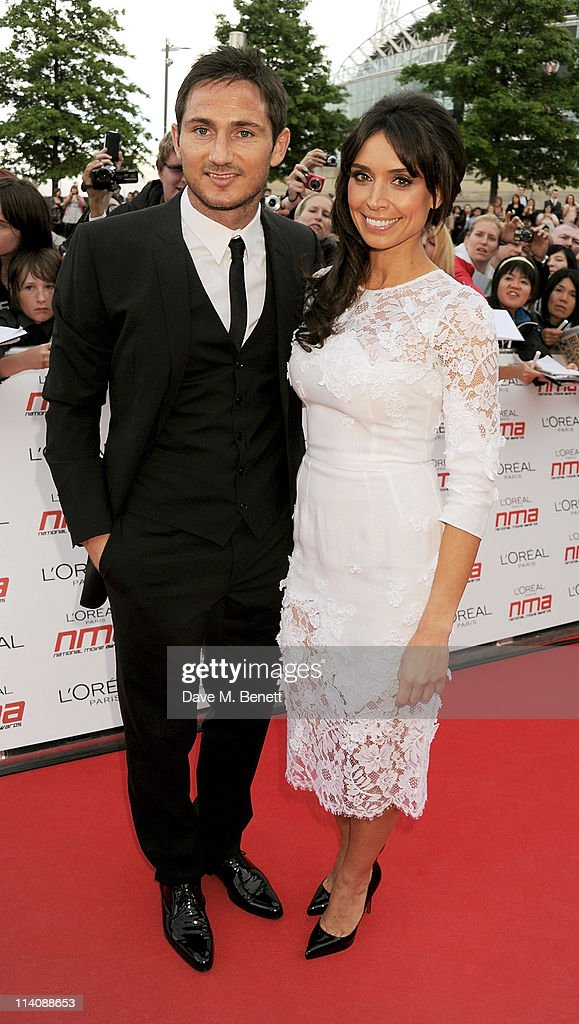 Frank Lampard and host Christine Bleakley arrives at the 2011 National Movie Awards held at Wembley Arena on May 11 2011 in London England