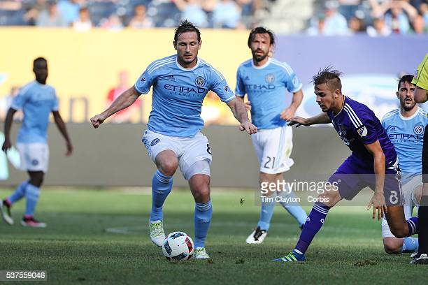 Frank Lampard Andrea Pirlo and David Villa of New York City FC in action during the New York City FC Vs Orlando City MSL regular season football...