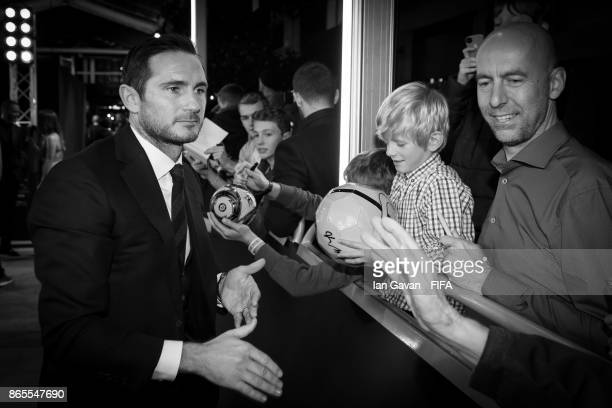 Frank lampard arrives on the green carpet for The Best FIFA Football Awards at The London Palladium on October 23 2017 in London England