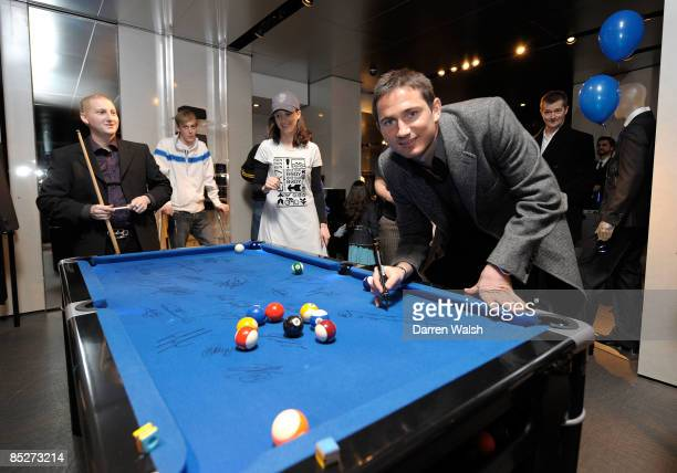 Frank Lampard during the Chelsea FC and Armani charity party at The Armani Store Brompton Road where the proceeds from the sales of these pictures go...