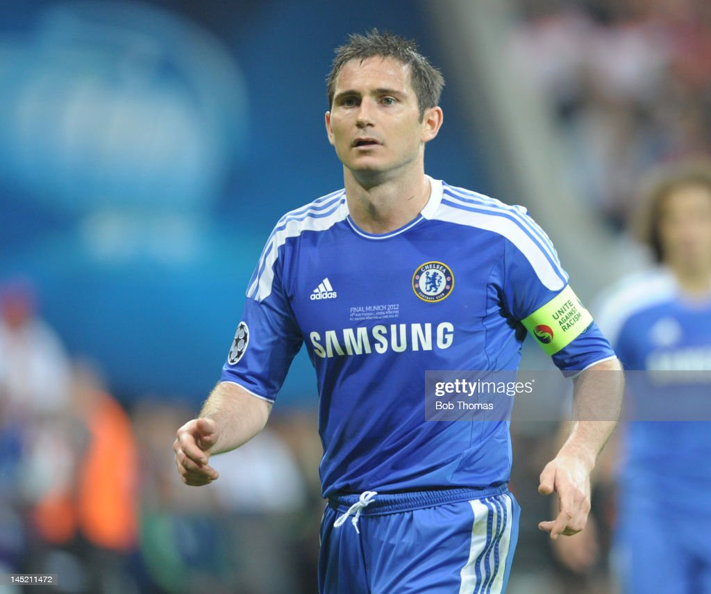 <a gi-track='captionPersonalityLinkClicked' href=/galleries/search?phrase=Frank+Lampard+-+Born+1978&family=editorial&specificpeople=11497645 ng-click='$event.stopPropagation()'>Frank Lampard</a> in action for Chelsea during the UEFA Champions League Final between FC Bayern Munich and Chelsea at the Fussball Arena Munich on May 19, 2012 in Munich, Germany. The match ended 1-1 after extra time, Chelsea won 4-3 on penalties.