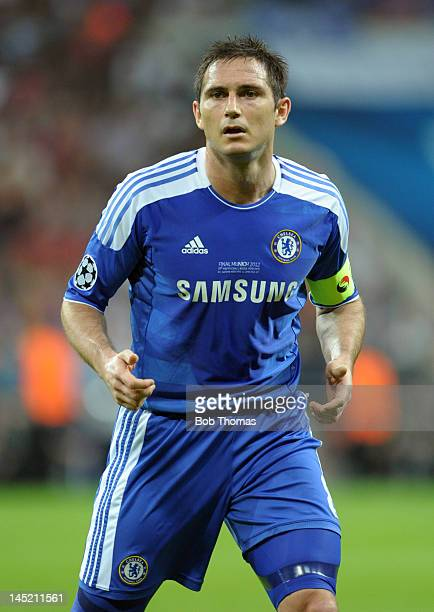 Frank Lampard in action for Chelsea during the UEFA Champions League Final between FC Bayern Munich and Chelsea at the Fussball Arena Munich on May...