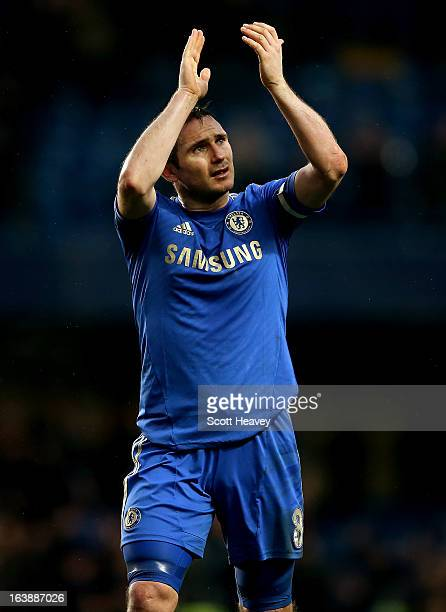 Frank Lampard of Chelsea during the Barclays Premier League match between Chelsea and West Ham United at Stamford Bridge on March 17 2013 in London...
