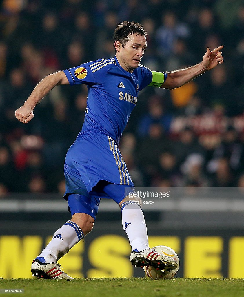 Frank Lampard of Chelsea during the UEFA Europa League match between AC Sparta Praha and Chelsea on February 14, 2013 in Prague, Czech Republic.