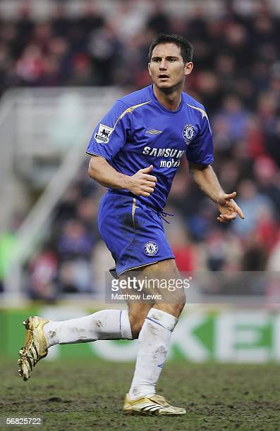 Frank Lampard of Chelsea in action during the Barclays Premiership match between Middlesbrough and Chelsea at the Riverside Stadium on February 11...