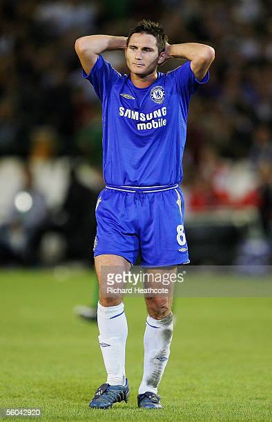 Frank Lampard of Chelsea looks frustrated during the UEFA Champions League group G match between Real Betis and Chelsea at the Ruiz de Lopera Stadium...